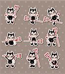 ghost and devil stickers  Stock Photo - Royalty-Free, Artist: notkoo2008                    , Code: 400-06452552