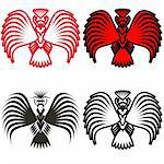 Eagle symbols and tattoo, vector illustration. Stock Photo - Royalty-Free, Artist: aarrows                       , Code: 400-06453076
