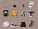 hocky stickers  Stock Photo - Royalty-Free, Artist: notkoo2008                    , Code: 400-06453491