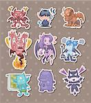 ghost and devil stickers  Stock Photo - Royalty-Free, Artist: notkoo2008                    , Code: 400-06453517