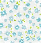 Vector illustration of Floral seamless pattern Stock Photo - Royalty-Free, Artist: SonneSon                      , Code: 400-06454217