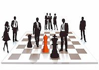 superior - Business chess Stock Photo - Royalty-Freenull, Code: 400-06454820