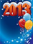 New Year decoration ready for posters and cards Stock Photo - Royalty-Free, Artist: Kamaga                        , Code: 400-06455027