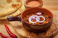 Mexican chilli con carne with red lentils and flatbread Stock Photo - Royalty-Freenull, Code: 400-06457295