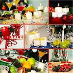 Collage of Christmas objects and symbols