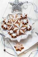 Homemade gingerbread for Christmas on the plate Stock Photo - Royalty-Freenull, Code: 400-06461738