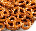 Closeup Of A Pile Of  Pretzels Stock Photo - Royalty-Free, Artist: svetlanna                     , Code: 400-06463981