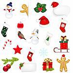 Big Set Xmas Icons Isolated On White Background With Gradient Mesh, Vector Illustration Stock Photo - Royalty-Free, Artist: adamson                       , Code: 400-06464069