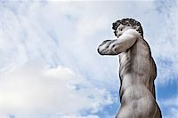 Statue of Michelangelo's David, Piazza della Signoria, Florence, Tuscany, Italy Stock Photo - Premium Rights-Managed, Artist: Siephoto, Code: 700-06465400