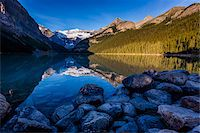 snow capped - Lake Louise, Banff National Park, Alberta, Canada Stock Photo - Premium Rights-Managednull, Code: 700-06465431