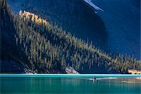 Person in Canoe on Moraine Lake, Banff National Park, Alberta, Canada Stock Photo - Premium Rights-Managednull, Code: 700-06465432