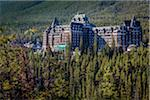 Banff Springs Hotel Surrounded by Evergreen Forest, Banff National Park, Alberta, Canada Stock Photo - Premium Rights-Managed, Artist: R. Ian Lloyd, Code: 700-06465440