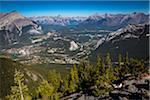 Overview of Bow Valley from Sulphur Mountain, Banff National Park, Alberta, Canada Stock Photo - Premium Rights-Managed, Artist: R. Ian Lloyd, Code: 700-06465442