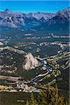 Overview of Bow Valley with Banff Springs Hotel, Banff National Park, Alberta, Canada Stock Photo - Premium Rights-Managed, Artist: R. Ian Lloyd, Code: 700-06465444