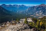 Overview of Observation Deck from Peak of Sulphur Mountain, Banff National Park, Alberta, Canada Stock Photo - Premium Rights-Managed, Artist: R. Ian Lloyd, Code: 700-06465448