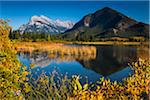 Mount Rundle and Sulphur Mountain Reflected in Vermilion Lakes, near Banff, Banff National Park, Alberta, Canada Stock Photo - Premium Rights-Managed, Artist: R. Ian Lloyd, Code: 700-06465459
