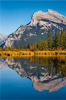 fall trees lake - Reflection of Mount Rundle in Vermilion Lakes, near Banff, Banff National Park, Alberta, Canada Stock Photo - Premium Rights-Managednull, Code: 700-06465466