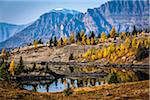 Rock Isle Lake in Autumn with Mountain Range in Background, Mount Assiniboine Provincial Park, British Columbia, Canada Stock Photo - Premium Rights-Managed, Artist: R. Ian Lloyd, Code: 700-06465480