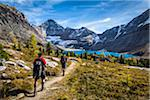 People Hiking on Trail at McArthur Lake, Yoho National Park, British Columbia, Canada Stock Photo - Premium Rights-Managed, Artist: R. Ian Lloyd, Code: 700-06465536