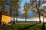 Adirondack Chairs at Lakefront Cottage, Point Au Fer, Champlain, New York State, USA Stock Photo - Premium Rights-Managed, Artist: R. Ian Lloyd, Code: 700-06465569