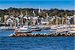 Sailboats in Marina with Town in Background, Vineyard Haven, Tisbury, Martha's Vineyard, Massachusetts, USA Stock Photo - Premium Rights-Managed, Artist: R. Ian Lloyd, Code: 700-06465742