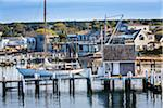 Sailboat and Docks at Vineyard Haven Harbor, Vineyard Haven, Tisbury, Martha's Vineyard, Massachusetts, USA Stock Photo - Premium Rights-Managed, Artist: R. Ian Lloyd, Code: 700-06465747