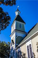 Low Angle of Trinity United Methodist Church, Camp Meeting Association Historical Area, Oak Bluffs, Martha's Vineyard, Massachusetts, USA Stock Photo - Premium Rights-Managednull, Code: 700-06465754