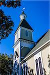 Low Angle of Trinity United Methodist Church, Camp Meeting Association Historical Area, Oak Bluffs, Martha's Vineyard, Massachusetts, USA Stock Photo - Premium Rights-Managed, Artist: R. Ian Lloyd, Code: 700-06465754