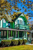 quaint house - Exterior of Green House, Wesleyan Grove, Camp Meeting Association Historical Area, Oak Bluffs, Martha's Vineyard, Massachusetts, USA Stock Photo - Premium Rights-Managednull, Code: 700-06465759