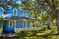 quaint house - Exterior of Blue and Yellow House, Wesleyan Grove, Camp Meeting Association Historical Area, Oak Bluffs, Martha's Vineyard, Massachusetts, USA Stock Photo - Premium Rights-Managednull, Code: 700-06465760