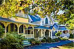 Row of Cottages in Wesleyan Grove, Camp Meeting Association Historical Area, Oak Bluffs, Martha's Vineyard, Massachusetts, USA Stock Photo - Premium Rights-Managed, Artist: R. Ian Lloyd, Code: 700-06465761