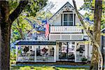 Front View of House with Porch, Wesleyan Grove, Camp Meeting Association Historical Area, Oak Bluffs, Martha's Vineyard, Massachusetts, USA Stock Photo - Premium Rights-Managed, Artist: R. Ian Lloyd, Code: 700-06465764