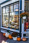 Storefront Decorated with Pumpkins in Autumn, Vineyard Haven, Tisbury, Martha's Vineyard, Massachusetts, USA Stock Photo - Premium Rights-Managed, Artist: R. Ian Lloyd, Code: 700-06465794