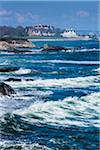 Rough Ocean Water and Rocky Coast with Mansions in Background, Newport, Rhode Island, USA Stock Photo - Premium Rights-Managed, Artist: R. Ian Lloyd, Code: 700-06465814