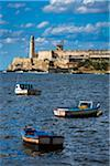 Fishing Boats in Bay in front of Morro Castle, Havana, Cuba Stock Photo - Premium Rights-Managed, Artist: R. Ian Lloyd, Code: 700-06465855