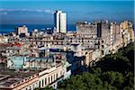 Overview of City and Ocean, Havana, Cuba Stock Photo - Premium Rights-Managed, Artist: R. Ian Lloyd, Code: 700-06465864
