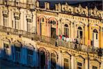 High Angle View of Laundry Hanging on Clothesline on Building Balcony, Havana, Cuba Stock Photo - Premium Rights-Managed, Artist: R. Ian Lloyd, Code: 700-06465900