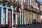 Row of Multi-Colored Pastel Buildings with Barred Windows, Havana, Cuba Stock Photo - Premium Rights-Managed, Artist: R. Ian Lloyd, Code: 700-06465903