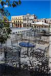 Restaurant Tables and Chairs on Patio Facing Plaza Vieja, Havana, Cuba Stock Photo - Premium Rights-Managed, Artist: R. Ian Lloyd, Code: 700-06465911
