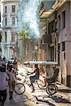Cycle Rickshaw with Passengers on Busy City Street, Havana, Cuba Stock Photo - Premium Rights-Managed, Artist: R. Ian Lloyd, Code: 700-06465934