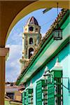 View of Bell Tower of Museo de la Lucha Contra Bandidos from Archway, Trinidad, Cuba Stock Photo - Premium Rights-Managed, Artist: R. Ian Lloyd, Code: 700-06465952