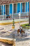 Man on Donkey in Plaza Mayor, Trinidad, Cuba Stock Photo - Premium Rights-Managed, Artist: R. Ian Lloyd, Code: 700-06465966