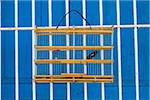 Close-Up of Bird in Cage Against Blue Wall, Trinidad, Cuba Stock Photo - Premium Rights-Managed, Artist: R. Ian Lloyd, Code: 700-06465976