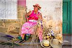Woman Weaving Straw Hats, Trinidad, Cuba Stock Photo - Premium Rights-Managed, Artist: R. Ian Lloyd, Code: 700-06465978