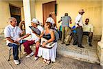 Members of Club Amigos Social Dance Club Relaxing on Porch, Trinidad, Cuba Stock Photo - Premium Rights-Managed, Artist: R. Ian Lloyd, Code: 700-06465983