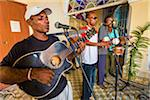 Band Performing at Club Amigos Social Dancing Event, Trinidad, Cuba Stock Photo - Premium Rights-Managed, Artist: R. Ian Lloyd, Code: 700-06465987