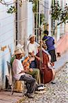 Street Musicians Performing Outdoors, Trinidad, Cuba Stock Photo - Premium Rights-Managed, Artist: R. Ian Lloyd, Code: 700-06465988