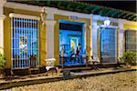 Waitress Looking Out Door of Restaurant Museo at Night, Trinidad, Cuba Stock Photo - Premium Rights-Managed, Artist: R. Ian Lloyd, Code: 700-06465992