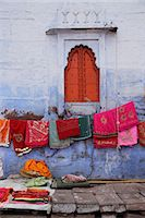 Saris for sale outside Sadar Market, Jodhpur, India Stock Photo - Premium Rights-Managednull, Code: 849-06466170