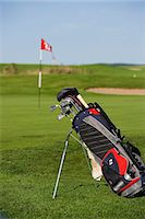 A golf bag on the green, Sweden. Stock Photo - Premium Royalty-Freenull, Code: 6102-06470366
